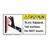 Caution/Burn Hazard Label (1100-01CHT)