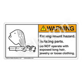 Warning/Entanglement Hazard Label (3022-28WH)