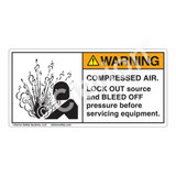 Warning/Compressed Air Label (4005-J3WHP)