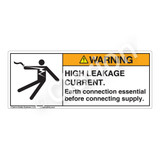 Warning/High Leakage Current Label (5025-2BWH)