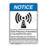 Notice/Radio Frequency Transmitters Label (6027-93NVP-)
