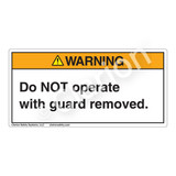 Warning/Do Not Operate Label (8001-67WHP)
