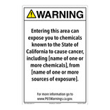 CA Prop 65 Environmental Exposure Sign (CA65-EE1-)