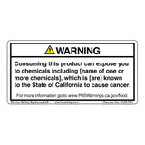 CA Prop 65 Food Exposure Label (CA65-FE1-)