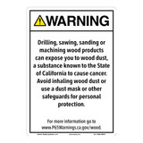 CA Prop 65 Wood Dust Exposure Sign (CA65-WDE1-)