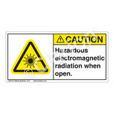 Caution/Hazardous Electromagnetic when Open Label (CDRH0004-H)