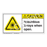 Caution/Hazardous X-rays when Open Label (CDRH0005-H)