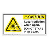 Caution/Laser Radiation when Open Label (CDRH2003-H)