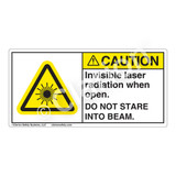 Caution/Invisible Laser Radiation when Open Label (CDRH2004-H)
