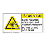 Caution/Laser Radiation when Open Label (CDRH2006-)