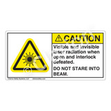Caution/Visible & Invisible Laser RadiationLabel (CDRH2008-)