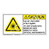 Caution/Laser Radiation when Open Label (CDRH3006-H)
