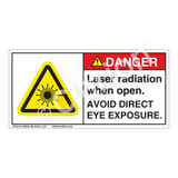 Danger/Laser Radiation when Open Label (CDRH3007-H)