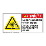 Danger/Laser Radiation when Open Label (CDRH3008-H)