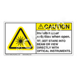 Caution/Invisible Laser Radiation when Open Label (CDRH3009-H)