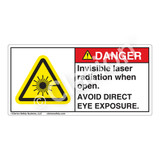 Danger/Invisible Laser Radiation when Open Label (CDRH3010-H)