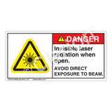 Danger/Invisible Laser Radiation when Open Label (CDRH3011-H)
