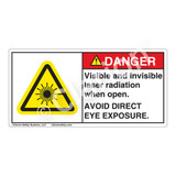 Danger/Visible & Invisible Laser RadiationLabel (CDRH3013-)