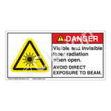 Danger/Visible & Invisible Laser RadiationLabel (CDRH3014-)