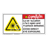 Danger/Laser Radiation when OpenLabel (CDRH3016-)