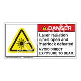 Danger/Laser Radiation Label (CDRH3017-)