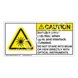 Caution/Invisible Laser Radiation Label (CDRH3018-)