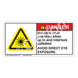 Danger/Invisible Laser Radiation Label (CDRH3019-)