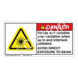 Danger/Visible & Invisible Laser Radiation Label (CDRH3023-)