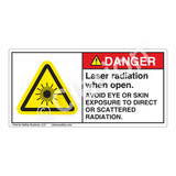 Danger/Laser Radiation when Open Label (CDRH4004-H)