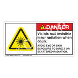 Danger/Visible & Invisible Laser Radiation Label (CDRH4006-)