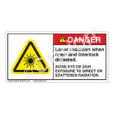 Danger/Laser Radiation Label (CDRH4007-)