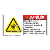 Danger/Invisible Laser Radiation Label (CDRH4008-)
