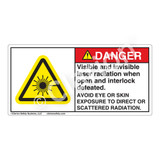 Danger/Visible & Invisible Laser Radiation Label (CDRH4009-)