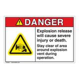 Danger/Explosion Release Label (EMC 12 ) )