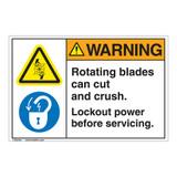 Warning/Rotating Blades Label (EMC 26 ) )