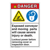 Danger Exposed Moving Parts Label (EMC 27)