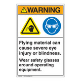 Warning/Flying Material Label (EMC 28 ) )