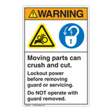 Warning Moving Parts Label (EMC 33)