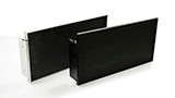 Anodized Black Aluminum Exit Sign Frames (F001-B)