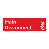 Main Disconnect Sign (F1024-)