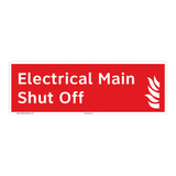 Electrical Main Shut Off Sign (F1026-)