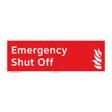 Emergency Shut Off Sign (F1027-)