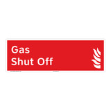 Gas Shut Off Sign (F1029-)