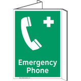 Emergency Phone Sign (F1068P-)