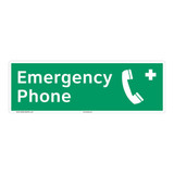 Emergency Phone Sign (F1071)