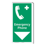 Emergency Phone Sign (F1072F-)
