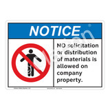 Notice No Solicitation Sign (F1122-)