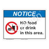 Notice No Food Sign (F1125-)