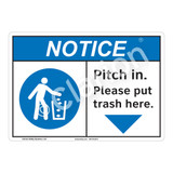 Notice Pitch In Sign (F1128-)
