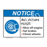 Notice All Drivers Sign (F1133-)